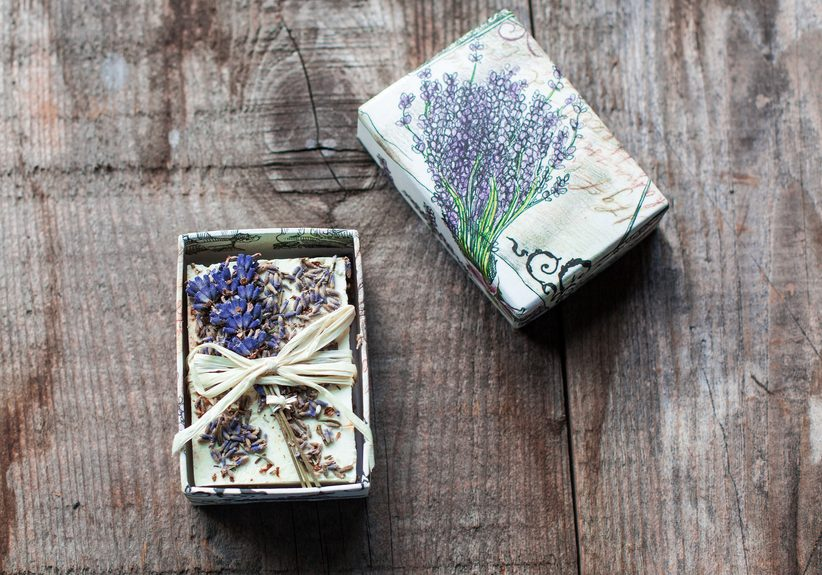 soap with lavender flower